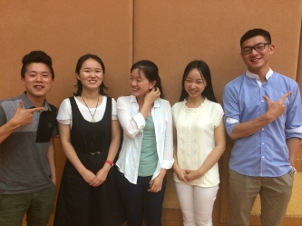 The fantastic student helpers - all students from Guangxi Normal University