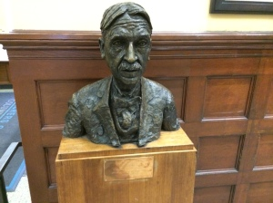 The bust of John Dewey in the main hall of Teachers College