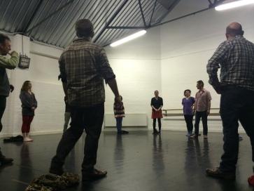 Devising workshop at the Brewery Theatre, Bristol